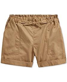 Big Girls Cotton Twill Camp Shorts