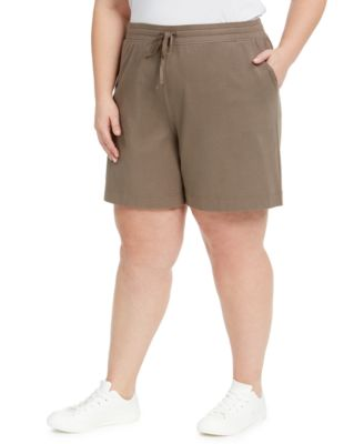 Plus Size Mid-Rise Shorts, Created for Macy's