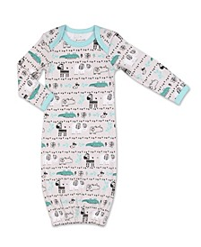 Baby Boy Safari Story Animal Print Sleep Gown