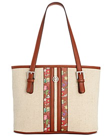 Floral Linen Tote, Created for Macy's