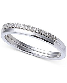 Cubic Zirconia Band in Sterling Silver, Created for Macy's