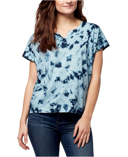 WILLIAM RAST Tie-Dye Split-Neck T-Shirt