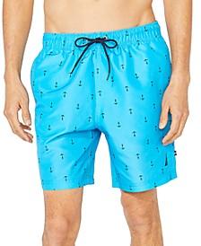"""Men's Anchor Print 8"""" Swim Trunks"""