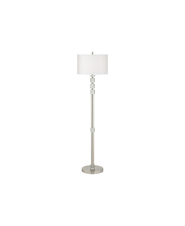 Kathy Ireland - METAL COLUMN FLOOR LAMP AND CRYSTAL CLUSTER