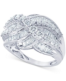 Diamond Baguette Cluster Statement Ring (2 ct. t.w.)