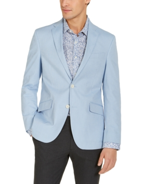 Men's Vintage Style Suits, Classic Suits Unlisted by Kenneth Cole Mens Slim-Fit Stretch Chambray Sport Coat Created for Macys $59.99 AT vintagedancer.com
