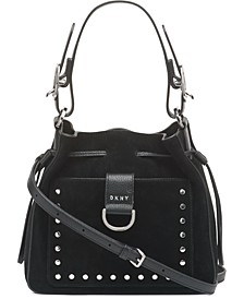 Wayne Leather Drawstring Bucket Bag