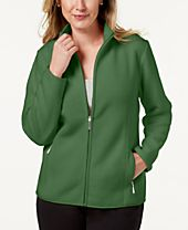 Karen Scott Sport Zip-Up Zeroproof Fleece Jacket, Created for Macy's