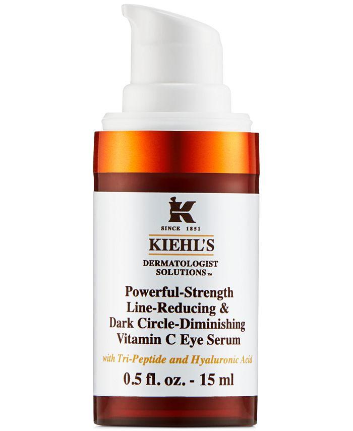 Kiehl's Since 1851 - Powerful-Strength Line-Reducing & Dark Circle-Diminishing Vitamin C  Eye Serum, 0.5-oz.