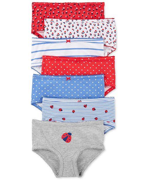 Carter's Little & Big Girls 7-Pk. Ladybug Underwear