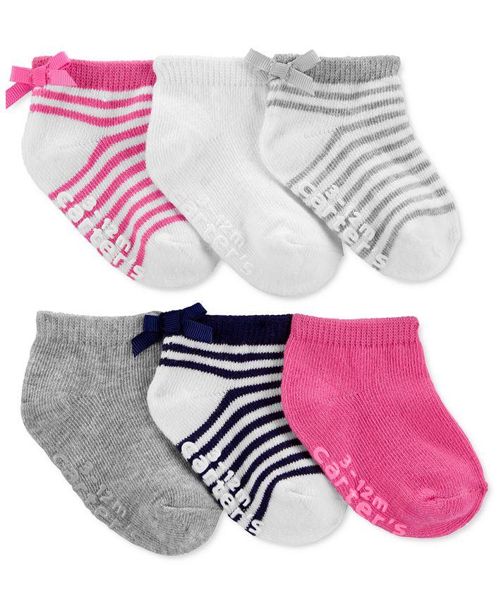 Carter's - Toddler Girls 3-Pack Ankle Socks