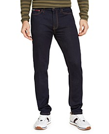 Men's Slim-Fit Stretch Knit Rinse 3D Jeans