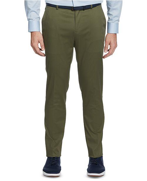 Perry Ellis Men's Slim-Fit Stretch Cotton Dress Pants