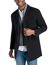 Men's Casa Slim-Fit Single Breasted Bib Raincoat