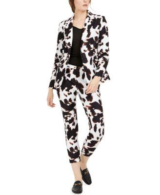 X-Fit Cow-Print One-Button Blazer