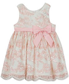 Baby Girls Sequin Embroidered Mesh Dress