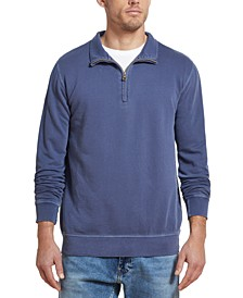 Men's Quarter-Zip Knit Sweater