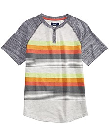 Big Boys Rage Textured Colorblocked Stripe Henley
