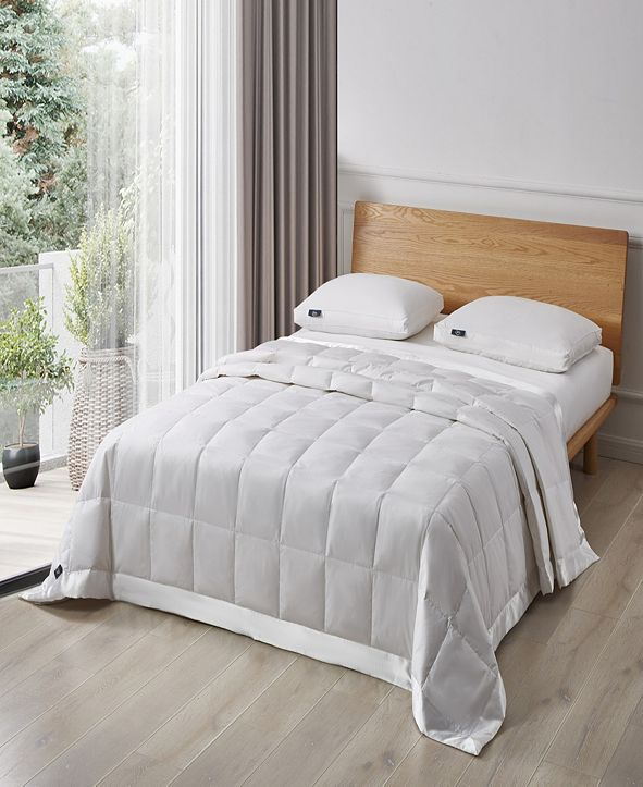 Serta White Goose Feather And Down Fiber Blanket, Full/Queen