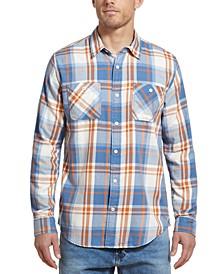 Men's Burnt Out Plaid Shirt