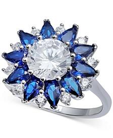 Cubic Zirconia Starflower Ring in Sterling Silver