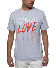 Men's Spread Love Embroidered Graphic T-Shirt