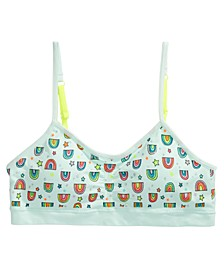 Little & Big Girls Ruched Cropped Bra