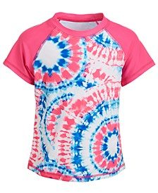 Little Girls Tie-Dye Short-Sleeve Rash Guard