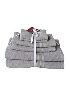 Braid Dobby 6-Pc. Turkish Cotton Towel Set