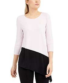 Colorblocked Asymmetrical Top, Created For Macy's