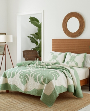 Tommy Bahama Molokai Twin Quilt In Mint