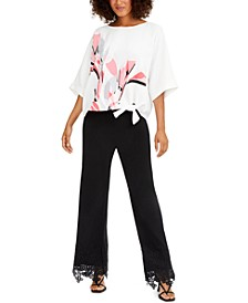 Side-Tie Top & Wide-Leg Pants, Created for Macy's