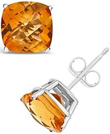Citrine (3-3/4 ct. t.w.) Stud Earrings in Sterling Silver