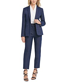 Single-Button Blazer, Wrap Top & High-Rise Pants