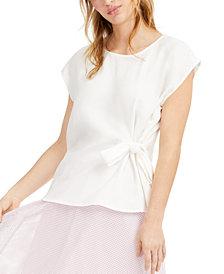 Alfani Tie-Front Top, Created for Macy's
