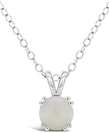 Gemstone Pendant Necklace in Sterling Silver