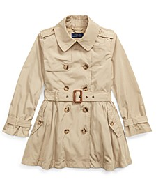 Little Girls Water-Repellent Trench Coat