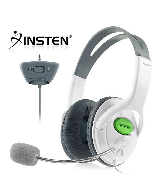 Insten 2-Pack Gaming Headset Chat Headphone with Mic Microphone for Xbox 360 Live Wireless Controller