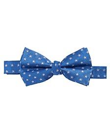 로렌 랄프로렌 보이즈 타이 Lauren Ralph Lauren Big Boys Pre-Tied Mini-Stars Silk Bow Tie,Navy