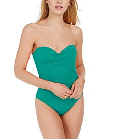 Underwire Bandeau One-Piece Swimsuit