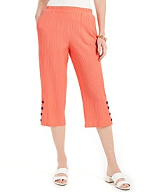 Crinkle Capri Pants, Created for Macy's