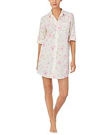 로렌 랄프로렌 슬립 셔츠 Lauren Ralph Lauren Floral-Print Sleep Shirt Nightgown,Multi Floral