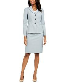 Melange Skirt Suit
