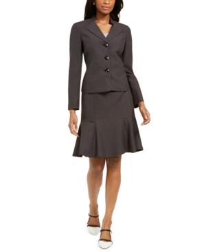 Pin Dot Three-Button Skirt Suit