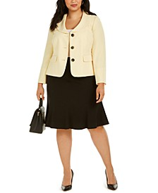 Plus Size Flare-Hem Skirt Suit