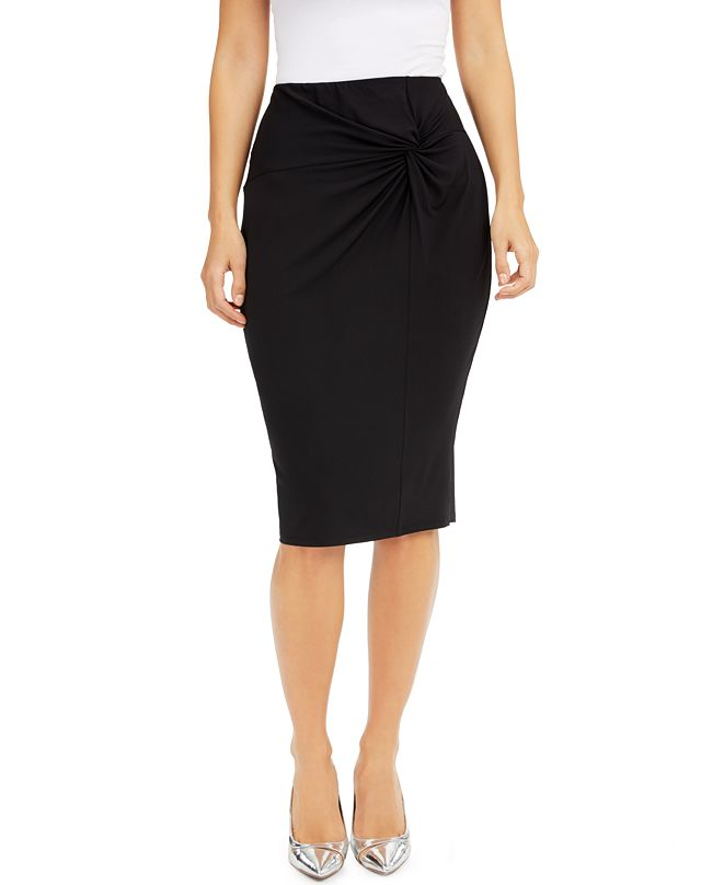 Thalia Sodi Twist-Side Pencil Skirt, Created for Macy's