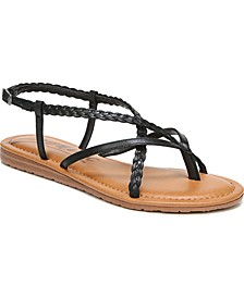Yovana Braided Strappy Flat Sandals