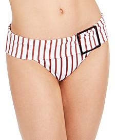 Annie Pinstripe Hipster Bikini Bottoms