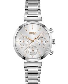 Women's Chronograph Flawless Stainless Steel Bracelet Watch 36mm