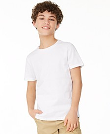 Big Boys Textured Stripe T-Shirt, Created for Macy's